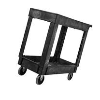 Rubbermaid Commercial Utility Cart, Lipped Shelves, Medium,