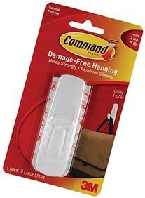 Command Utility Hook, Large, 5-Pound Capacity, 6-PACK
