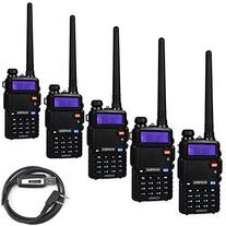 5 Pack Baofeng UV-5RTP Tri-Power 8/4/1W Two-Way Radio