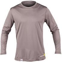 SUPreme Men's UV Shield - Long Sleeve Rash Guard Top, Smoke