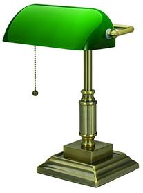 V-LIGHT Traditional Style CFL Banker's Desk Lamp with Green