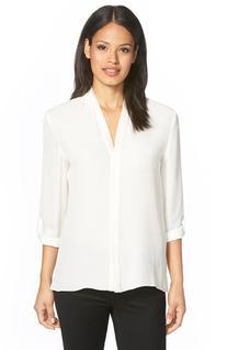 Women's Elie Tahari 'Anabella' V-Neck Silk Blouse, Size