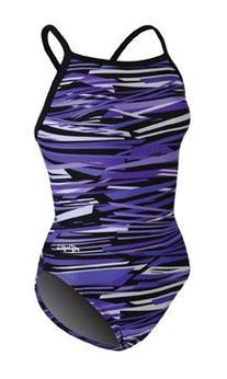 Dolfin Swimwear Styx V-2 Back - Purple Styx, 34