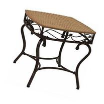 Valencia Resin Wicker / Steel Square Round Side Table