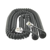 Leegoal Coiled Telephone Phone Handset Cable Cord,Black