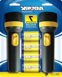 Rayovac Value Bright 9-Lumen 2D Economy Flashlight Twin Pack