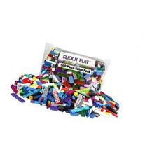 Click n' Play - 500 pc Value Pack of Building Bricks - Tight