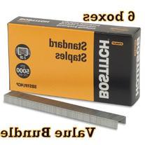 Value Pack of 6 Stanley Bostitch Premium Standard Staples, 1
