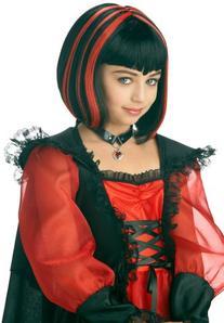 Vampire Girl Costume Wig - Black