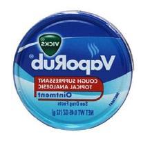 Vicks Vaporub Ointment Cream Cough Suppressant and Topical