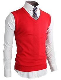 H2H Mens Various Color Casual Slim Fit Knit Vest With Soft