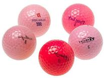 Various Brands Optic Pink Mixed Recycled Golf Balls, 48 Pack