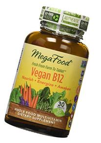 MegaFood - Vegan B12, Supports Natural Energy Stores, Mental