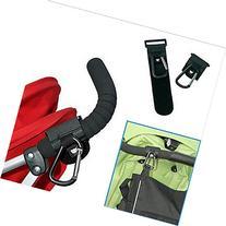 2 Pack of Velcro Stroller Hooks Stroller Clips Universal Fit