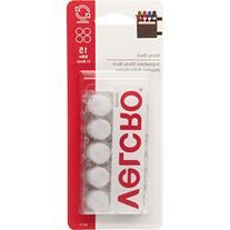 "VELCRO Brand - Sticky Back - 5/8"" Coins, 15 Sets - White"