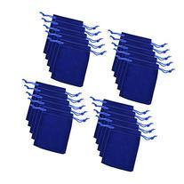 "BCP Pack of 20pcs 3"" X 4"" Velvet Drawstring Cloth Jewelry /"