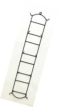 Vertical Quadruple Wall Plate Holder, 39.5 Inches High x 8.5