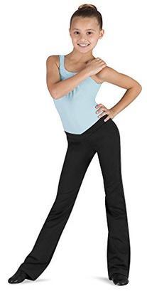 Bloch Girl's V-Front Comfort Jazz Pants 8-10 Black