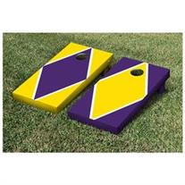 Diamond Alternating Cornhole Boards Game Set, Bright Gold /