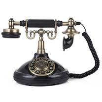LNC Vintage Antique Style Push Button Dial Table Telephone