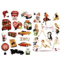 NAVA Vintage Fashion Girl Balloon Beer Car Luggage