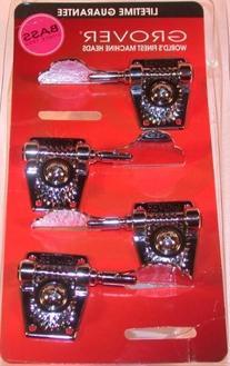Grover Vintage Bass Machine Heads , 2 Treble and 2 Bass, Set