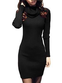 V28 Women Vintage Cowl Neck Stripe Kint Stretchable