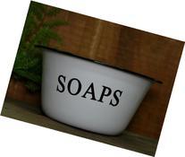 Vintage Enamelware Small SOAPS Dish Basin Pour Le Bain