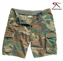 Rothco Vintage Paratrooper Shorts, Woodland, 3X