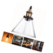 Vintage Pendant Light Glass Hanging Fixture Industrial