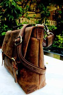 Handolederco. 15 Inch Retro Buffalo Hunter Leather Laptop