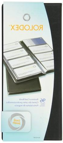 Rolodex Vinyl Business Card Book with A-Z Tabs, Holds 96