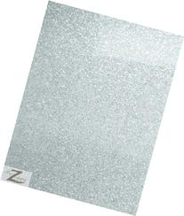VINYL FAUX FAKE LEATHER SPARKLE GLITTER FABRIC - Silver - 54