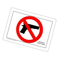 ComplianceSigns Vinyl label, 7 x 5 in. with Illinois Weapons