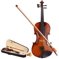 Zenison Violin 4/4 Scale Full Size Natural Wood Fiddle