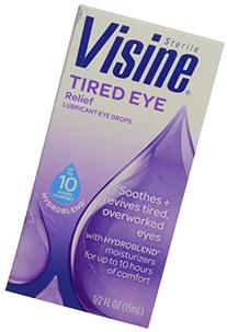Visine Tired Eye Relief Lubricant Eye Drops, .5 oz