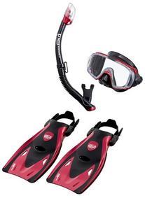 TUSA Sport Visio Tri-Ex Mask Series Travel Swimming Set,