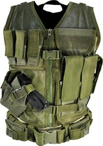 NcStar CTV2916G Tactical Vest, Green, M-XL