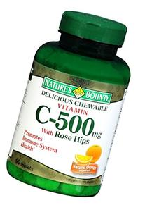 Nature's Bounty Vitamin C 500 mg with Rose Hips Chewable