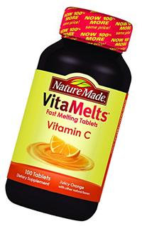 Nature Made Vitamelts Vitamin C Tablets, Juicy Orange, 100