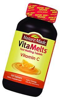 Nature Made Vitamelts Vitamin C Tablets, Juicy Orange, 100
