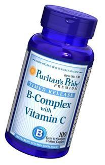 Puritan's Pride Vitamin B-Complex + Vitamin C Time Release-