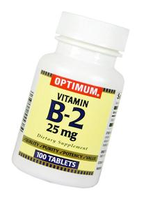 Optimum Vitamin B-2 Tablets, 25 Mg, 100 Count