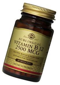 Solgar Vitamin B12 Nuggets, 2500 mcg, 60 Count