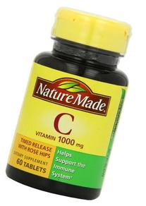 Nature Made Vitamin C 1000mg Timed Release with Rose Hips ,