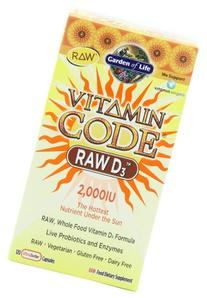 Garden of Life Vitamin Code - RAW D3 -- 120 Capsules