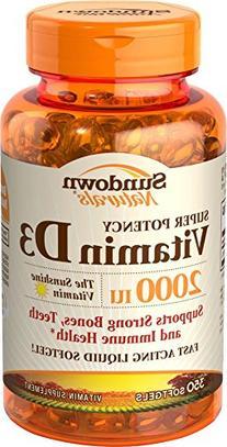 Sundown Naturals Vitamin D-2000 Iu Softgels Value Size, 300
