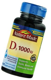Nature Made Vitamin D3 1000 Iu, Liquid Softgels 100 Ea