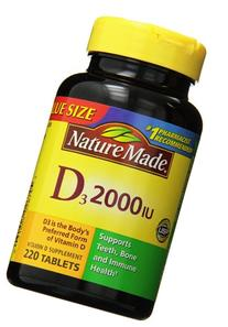 Nature Made Vitamin D3 2000 IU Supplement, Value Size, 220