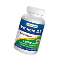Best Naturals Vitamin D3 5000 IU Supplement, 360 Softgels